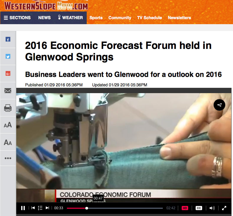 2016 Economic Forecast Forum Held In Glenwood Springs