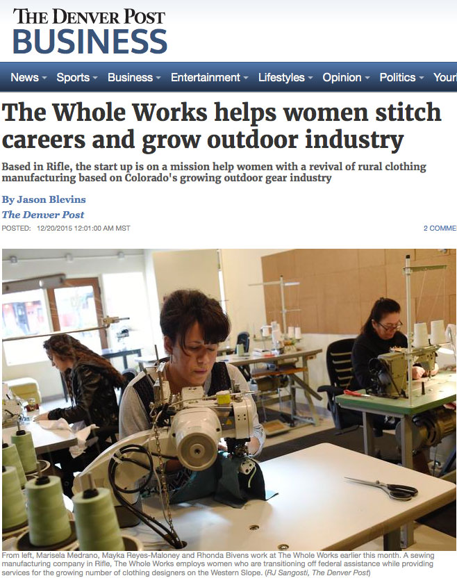 The Whole Works helps women stitch careers and grow outdoor industry