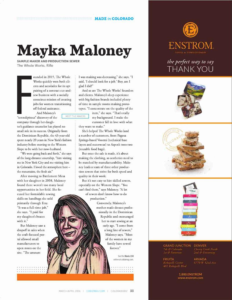 Made in Colorado 2016: Mayka Maloney